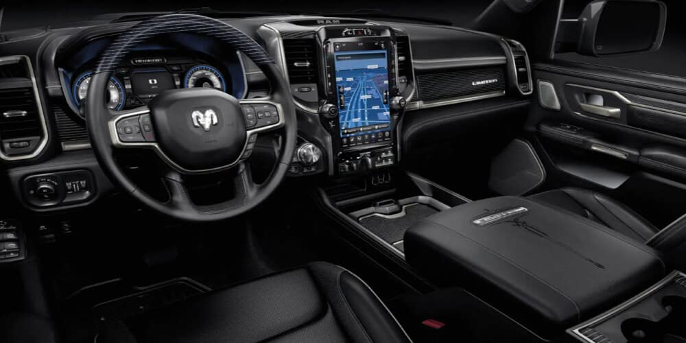 2021 Ram 1500 Limited with 12-inch touchscreen