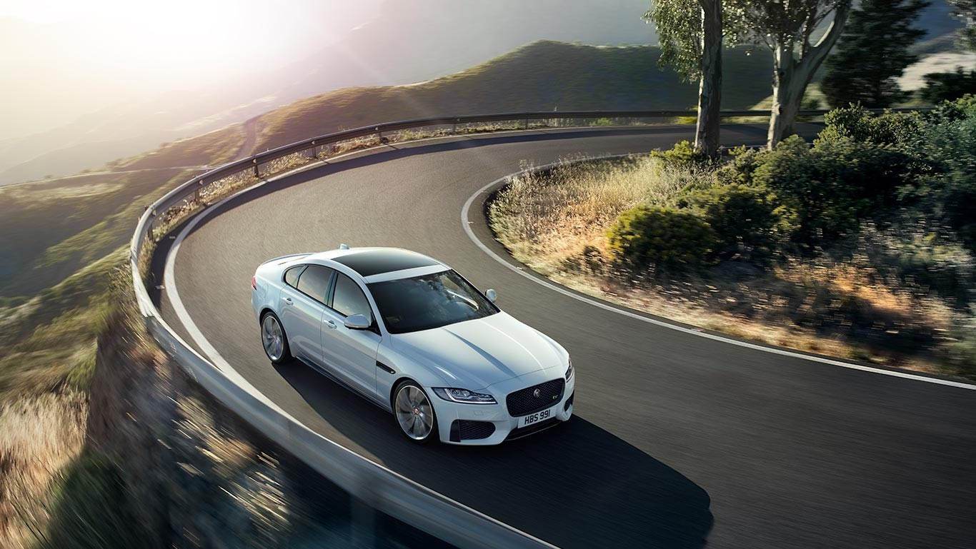 2018 Jaguar XF on road