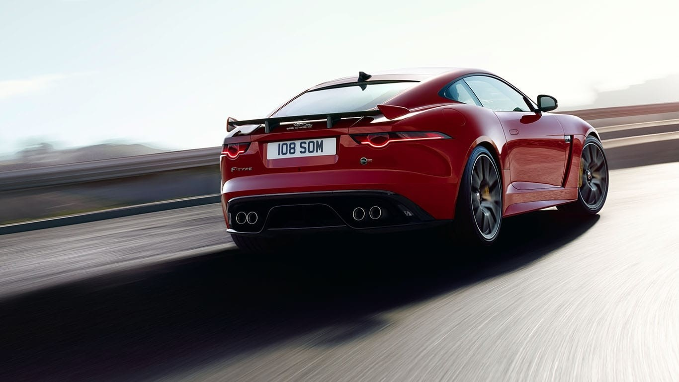 2018 Jaguar F-TYPE rear exterior