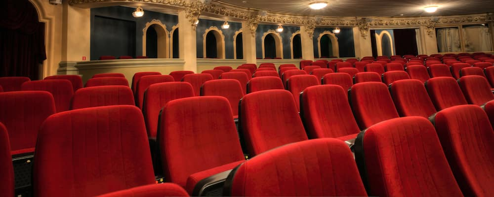 Red velvet theatre seats