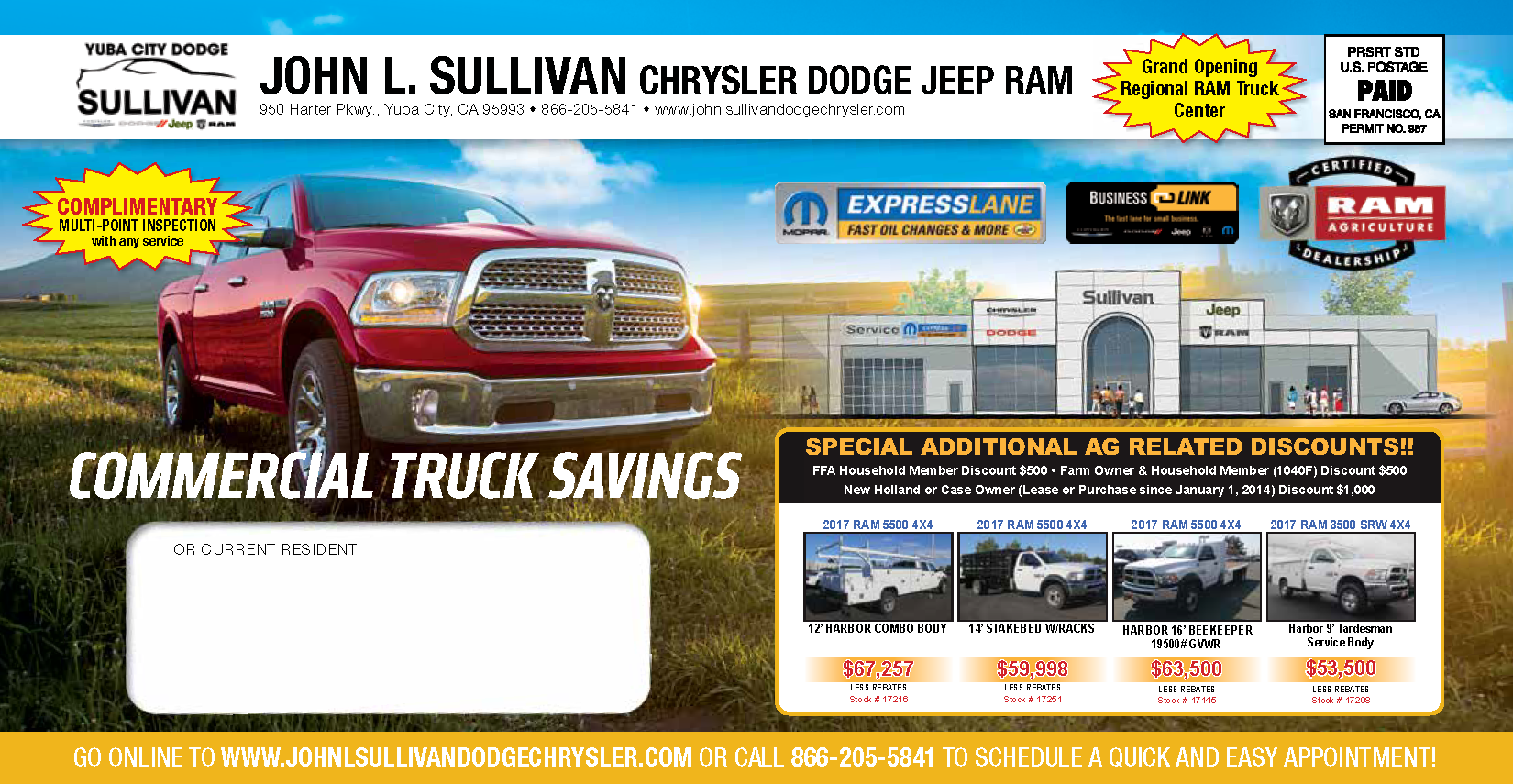 Yuba City Dodge Service Mailer