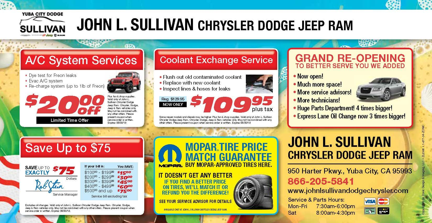 Yuba City Dodge Service Mailer - page 2