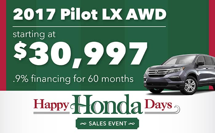 Happy Honda Days Offer
