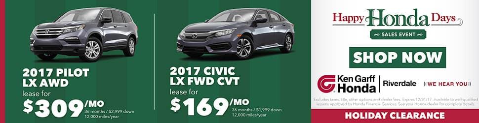 New Honda Civic Pilot For Sale In Ogden UT