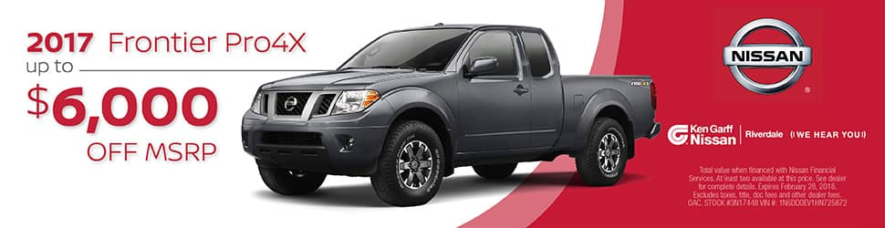 New Nissan 2017 Nissan Frontier For Sale In Riverdale, UT