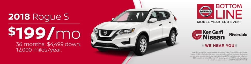 *Available To Qualified Customers Leasing Through Nissan Financial Services  Through August 31, 2018. Excludes Title, Taxes, Registration, License Fees,  ...