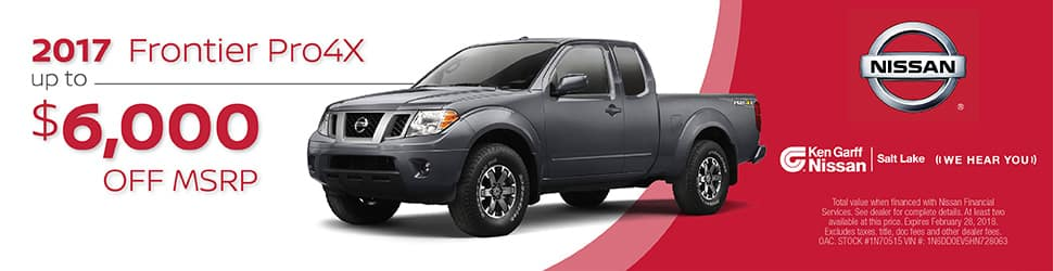 2017 nissan frontier ken garff nissan salt lake city. Black Bedroom Furniture Sets. Home Design Ideas