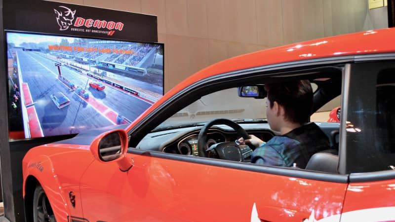 VR Test Drive of 2018 Dodge Challenger SRT® Demon at Chicago Auto Show