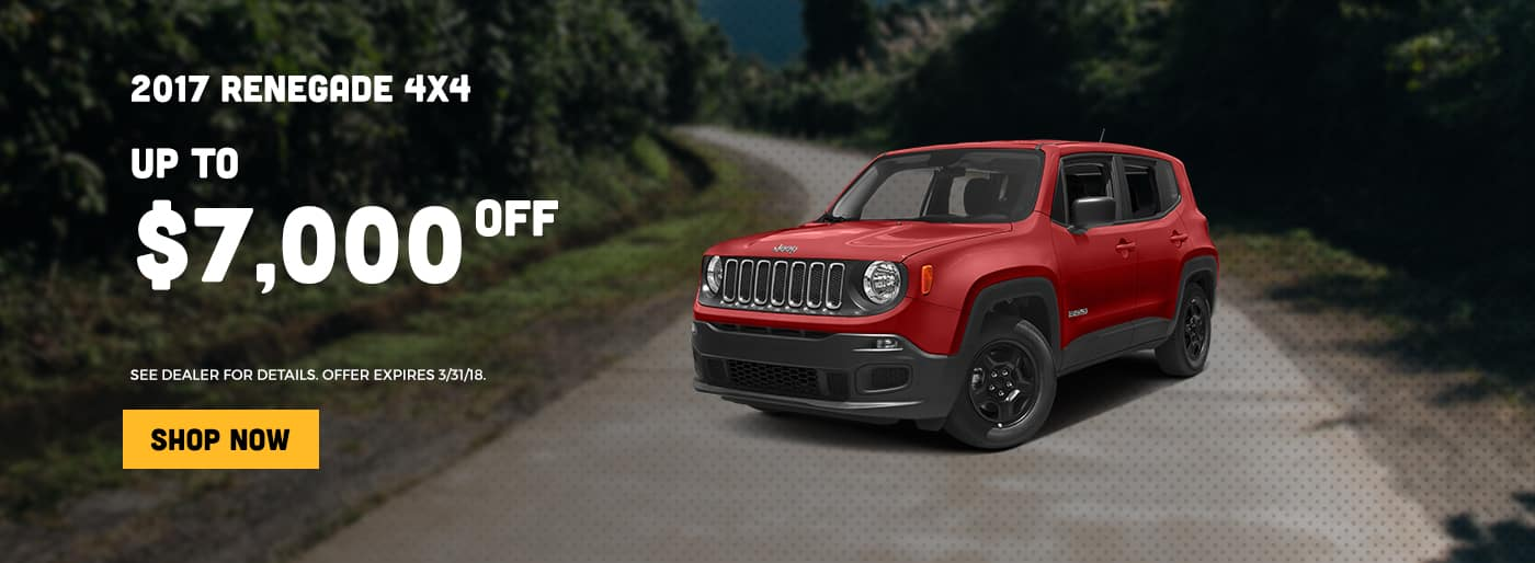 2017 Renegade up to $7000 off