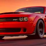 2018 Dodge Demon racing on a track