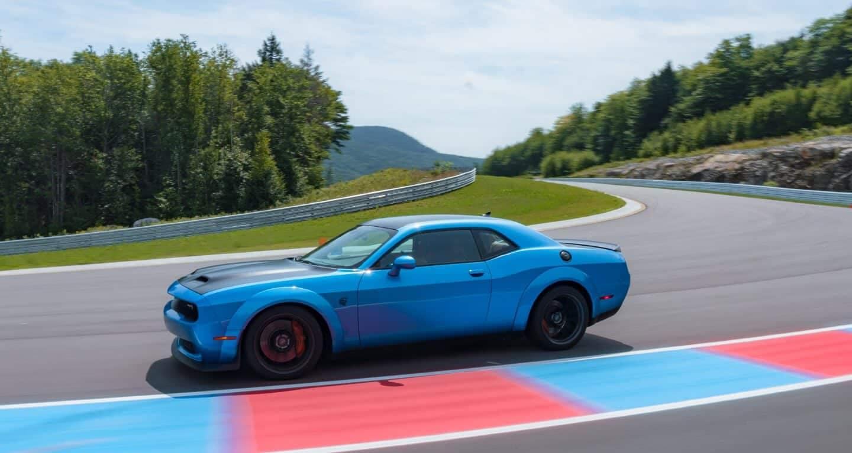 2019 Dodge Challenger blue exterior