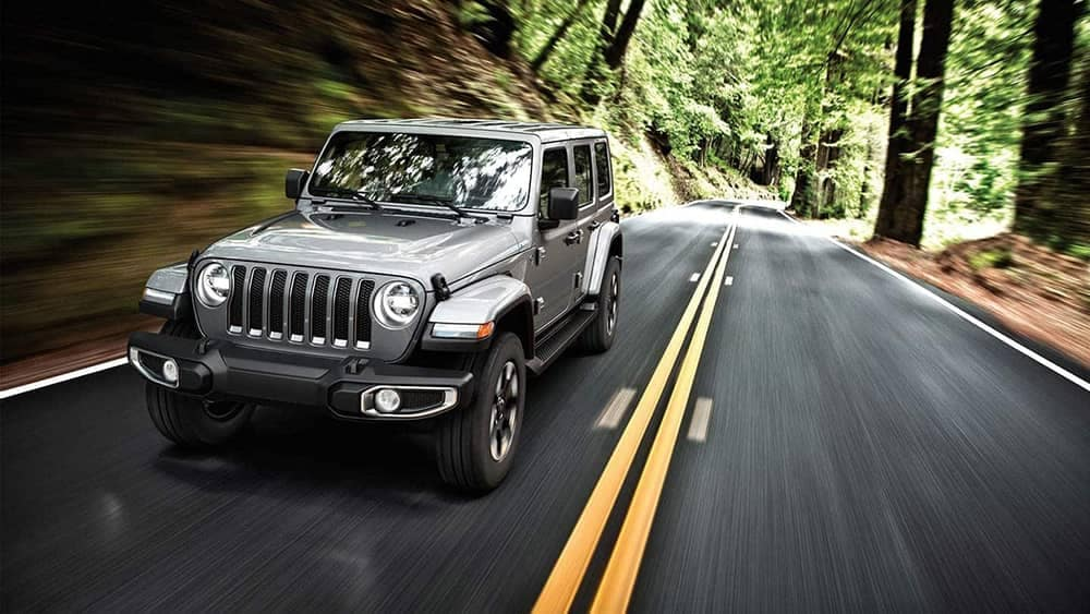 2019 Jeep Wrangler driving down road