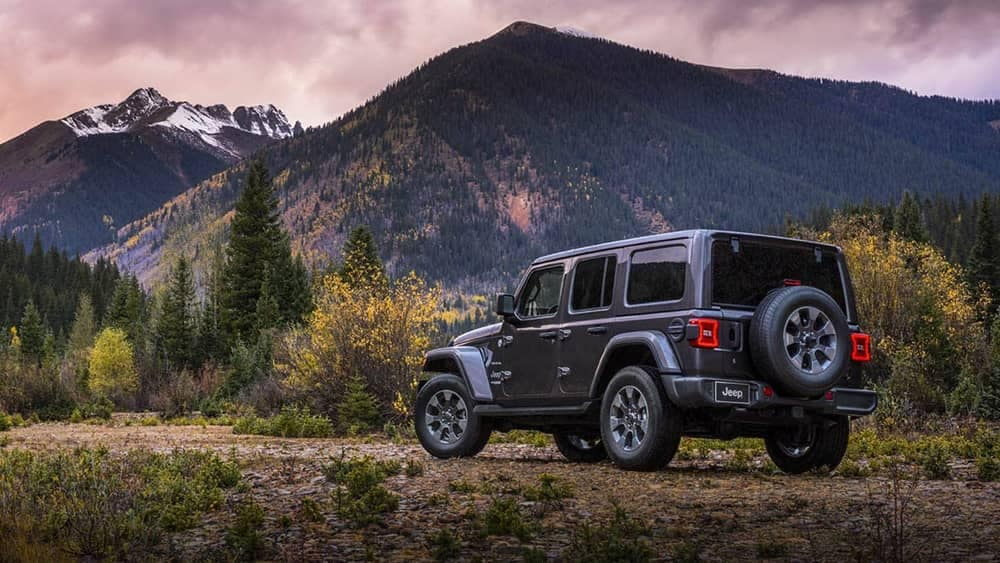2019 Jeep Wrangler at the mountains