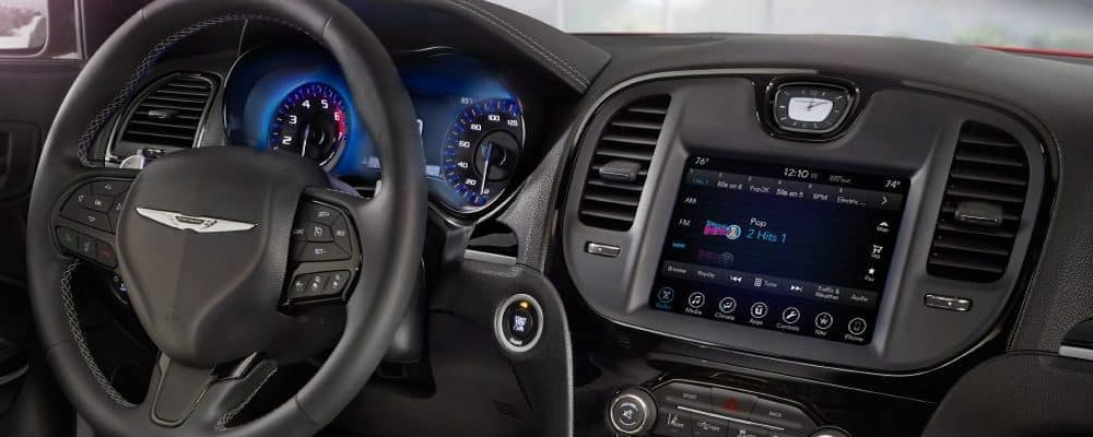 Uconnect infotainment system in Chrysler vehicle