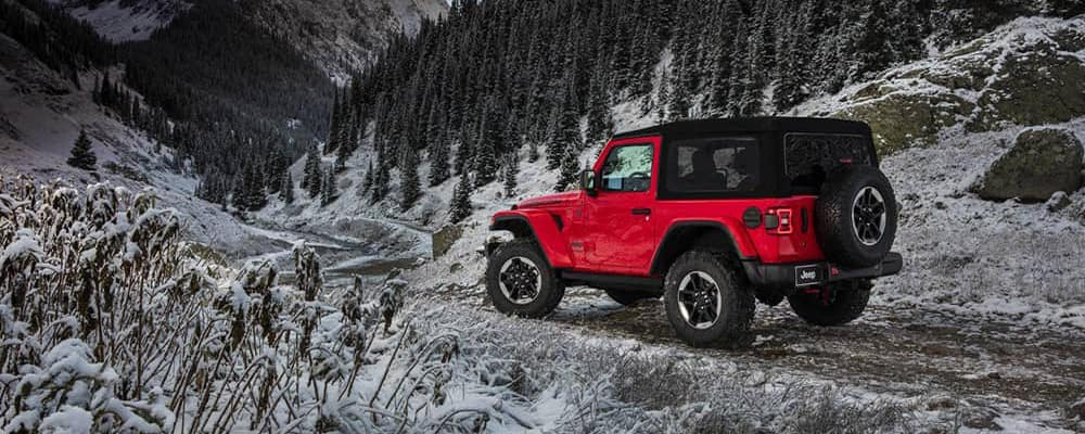 2018 Jeep Wrangler on snow road banner