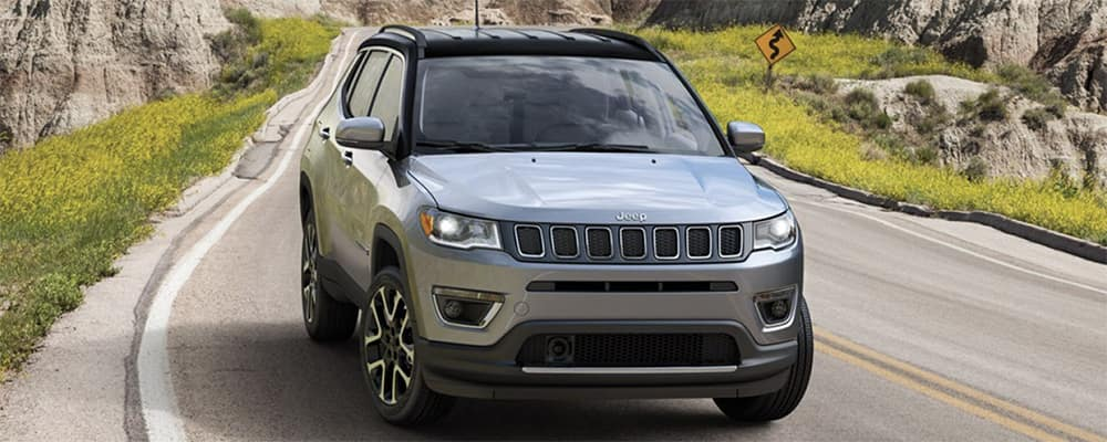 2020 Jeep Compass in rocky environment