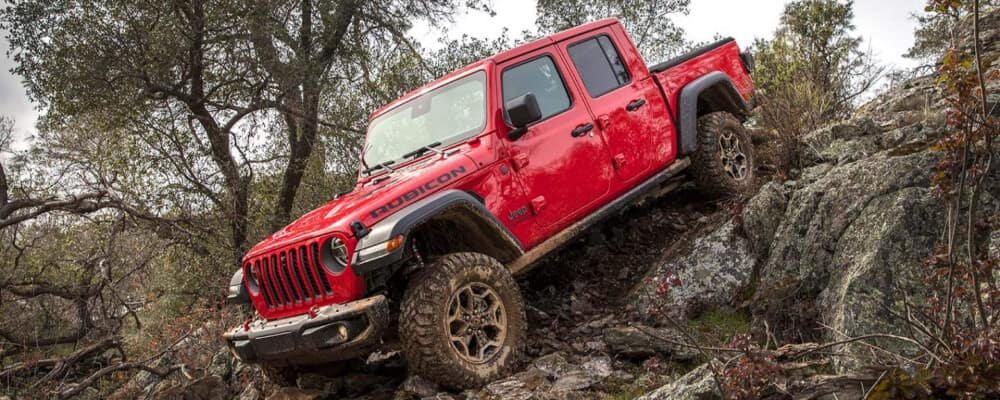 red 2021 jeep gladiator