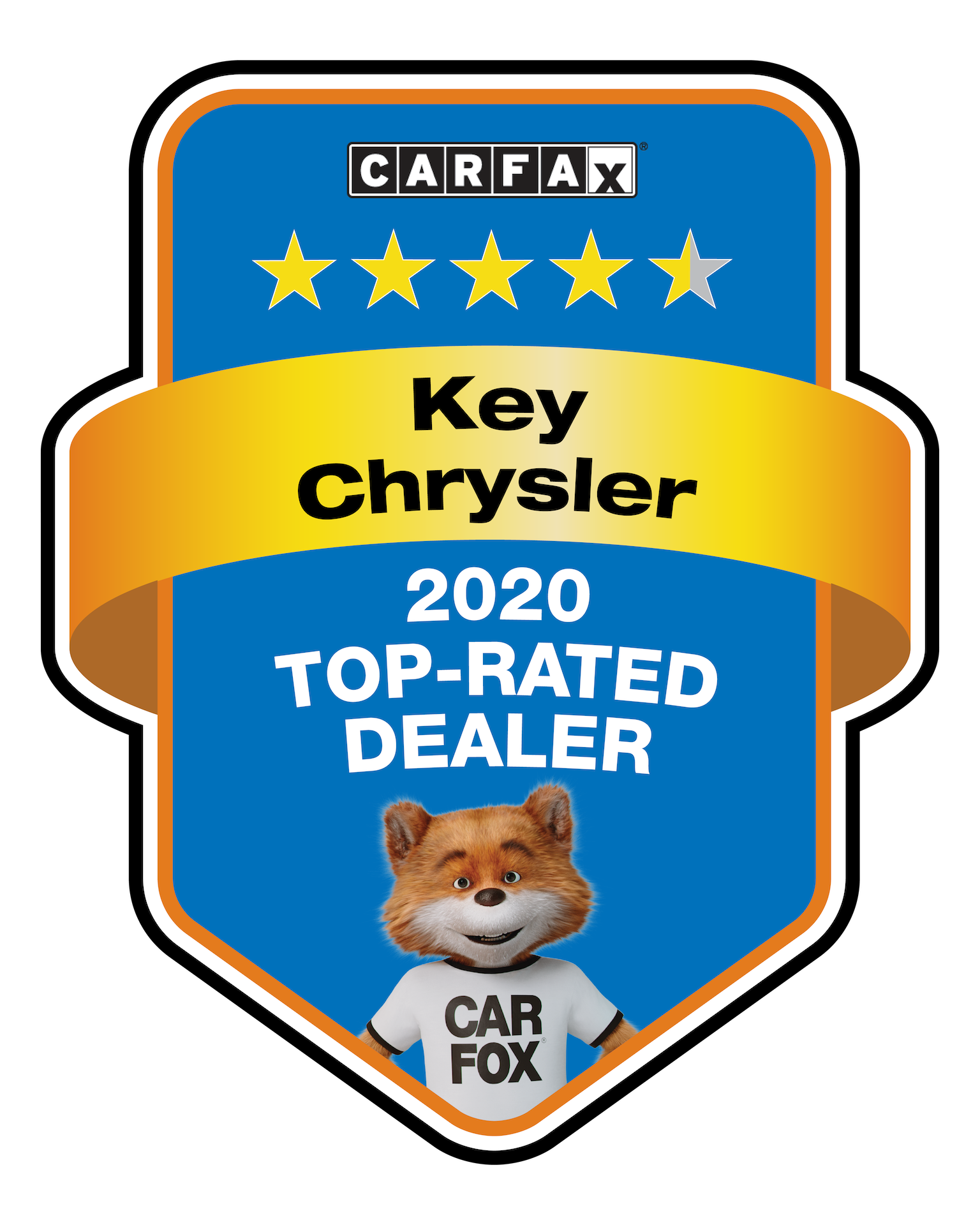 Key Chrysler 2020 Top Rated Dealer CarFax