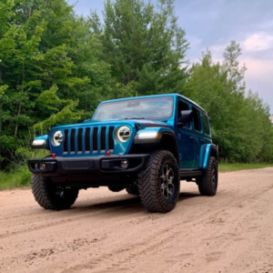 jeep on dirt road