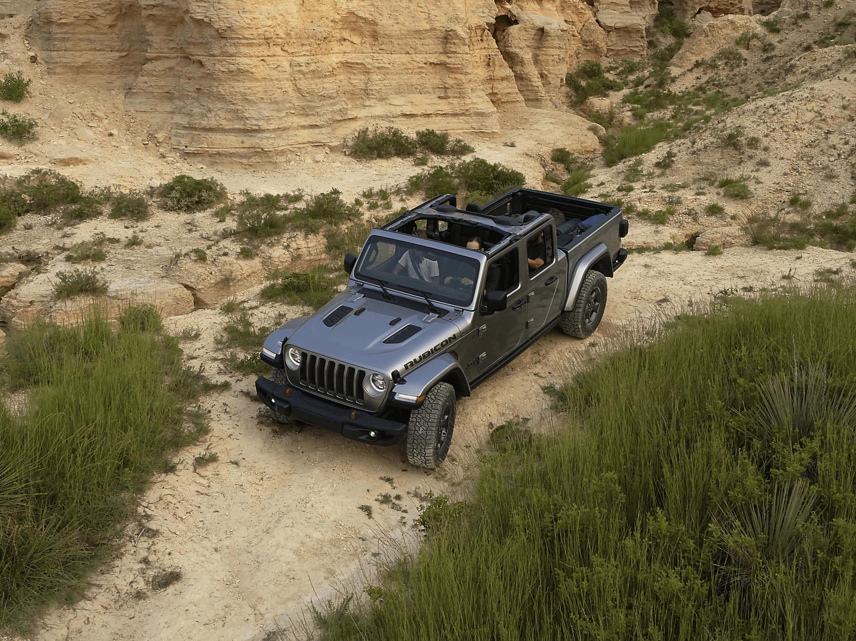 2021 Jeep Gladiator Gray Off-Roading