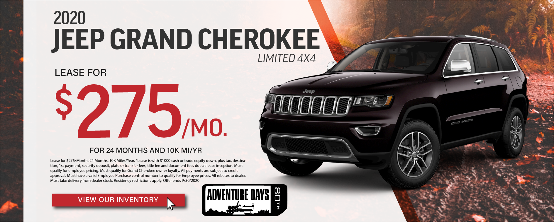 Grand Cherokee Limited Sept
