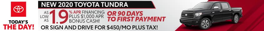 New 2020 Toyota Tundra at LaGrange Toyota