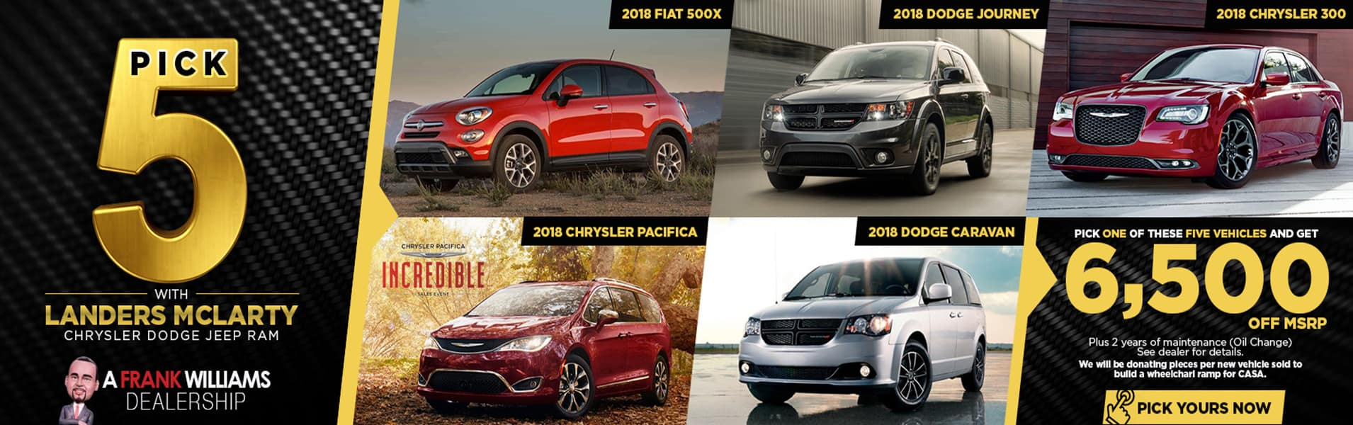 Pick 1 of these 5 Vehicles for $6,500 Off