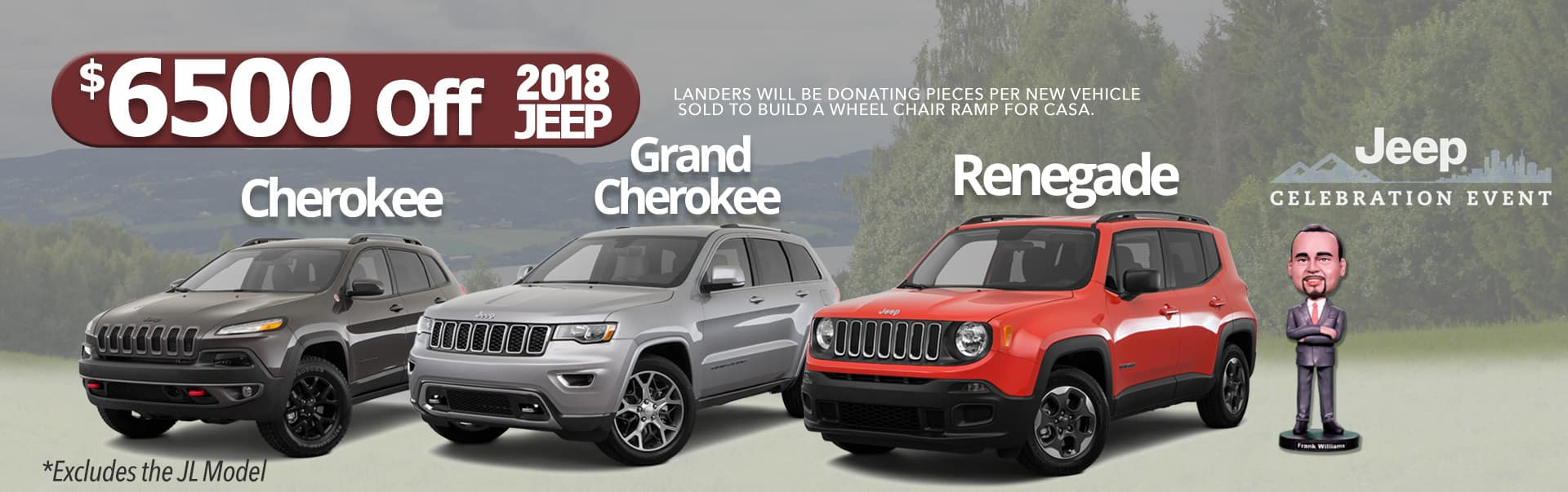 Pick from 5 Models for $6500 OFF at Landers McLarty Dodge Chrysler Jeep Ram in Huntsville, AL!