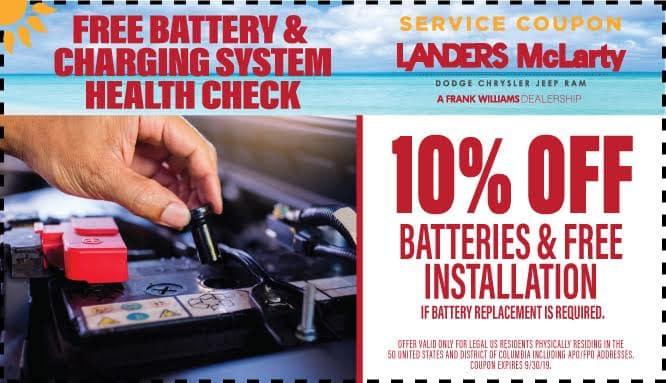 Mopar Parts & Service Coupons | Landers McLarty Dodge