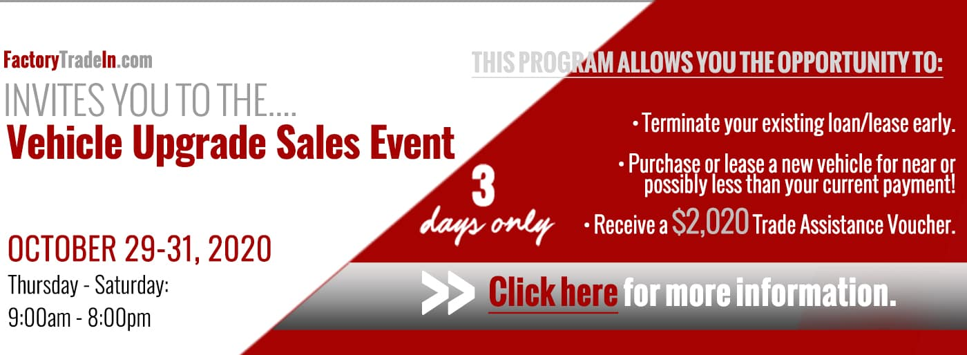 Sales event homepage