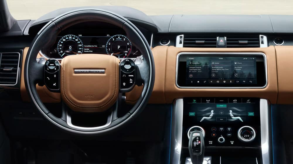 2018 Land Rover Range Rover Sport dash features