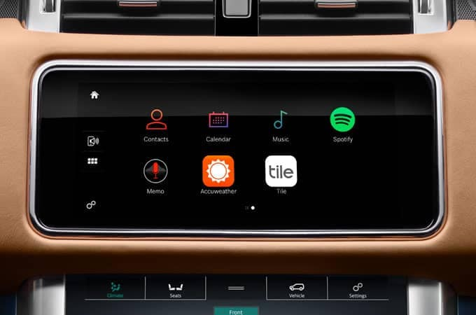 2019 Range Rover Sport In Control Apps