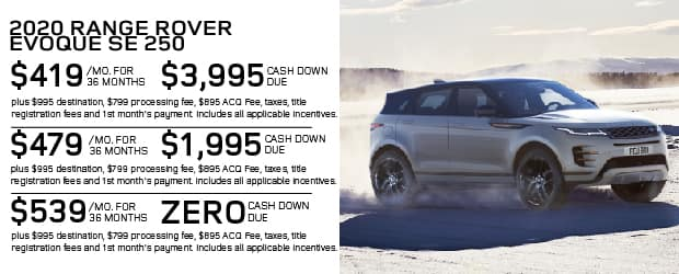 New 2020 Land Rover Range Rover Evoque S AWD For Sale