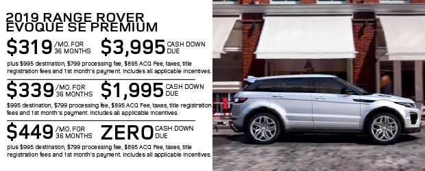 Certified Pre-Owned 2019 Land Rover Range Rover Evoque SE Premium 4WD For Sale