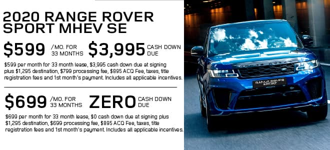 New 2020 Land Rover Range Rover Sport SE With Navigation & 4WD For Sale