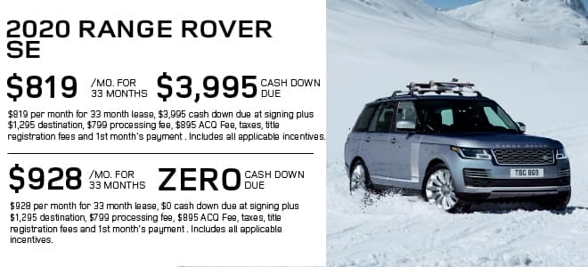 New 2020 Land Rover Range Rover Base With Navigation & 4WD For Sale
