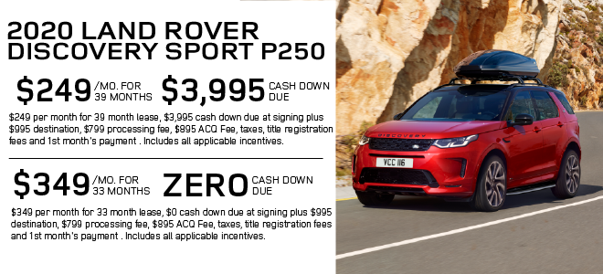 New 2020 Land Rover Discovery Sport Standard 4WD For Sale