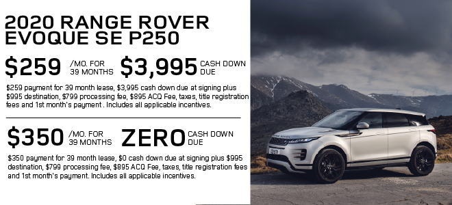 New 2020 Land Rover Range Rover Evoque S With Navigation & AWD For Sale
