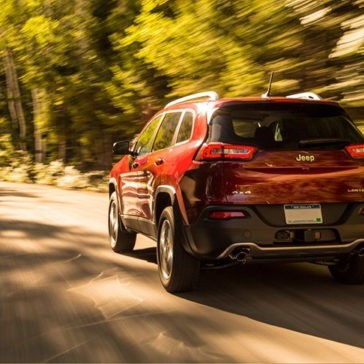 2017 Jeep Cherokee on road