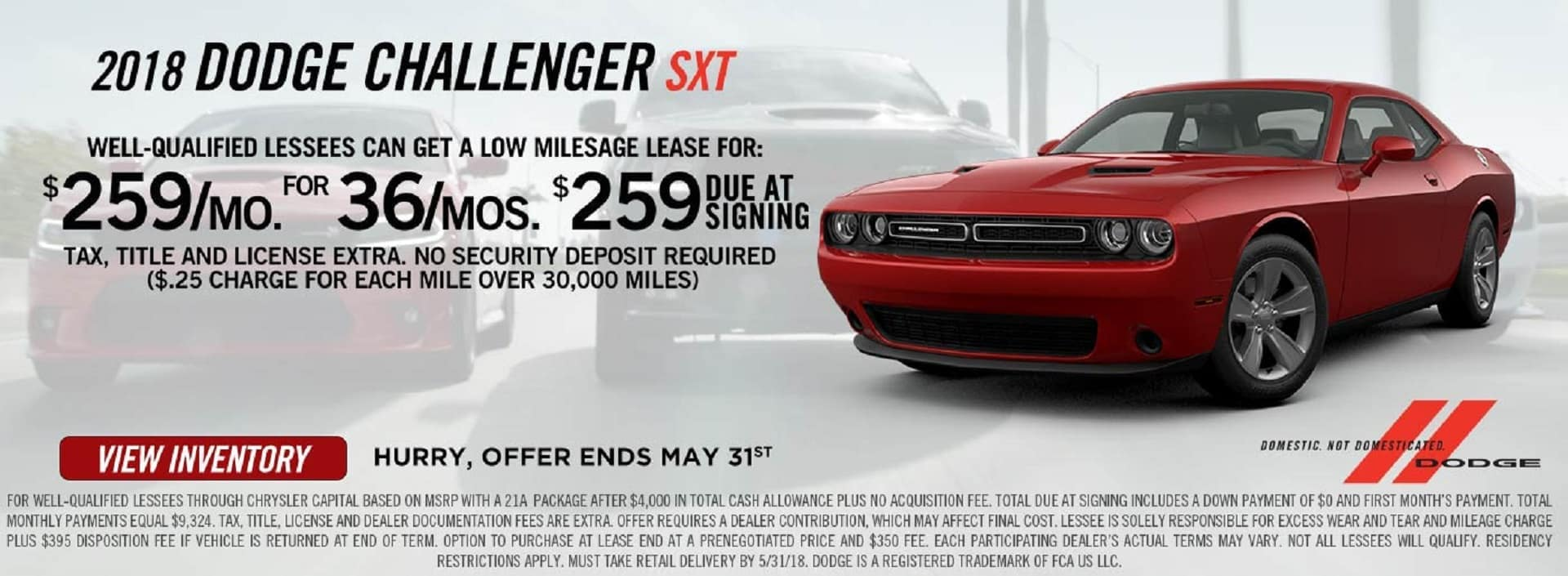 2018 Challenger Lease