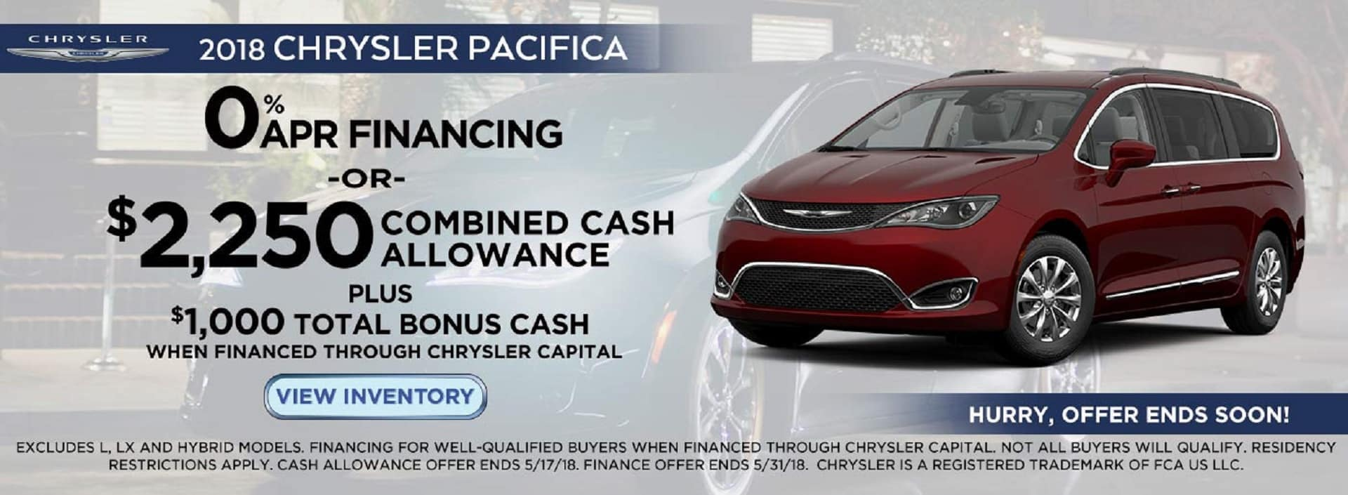 2018 Chrysler Pacifica Lease