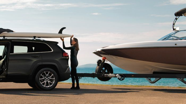 The 2019 Jeep Cherokee features best-in-class towing capacity