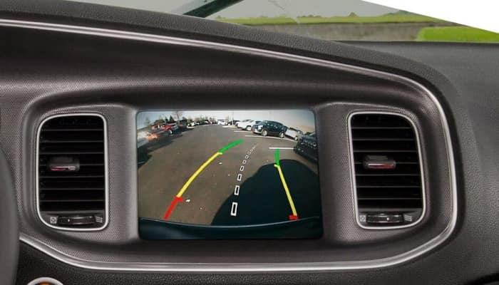 Rear-view camera inside the 2019 Dodge Charger