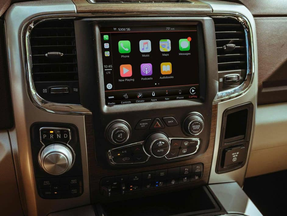 The 2019 RAM 1500 comes loaded with modern technology features