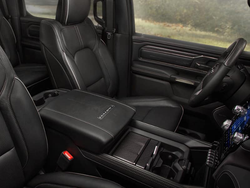Spacious interior of the 2020 RAM 1500