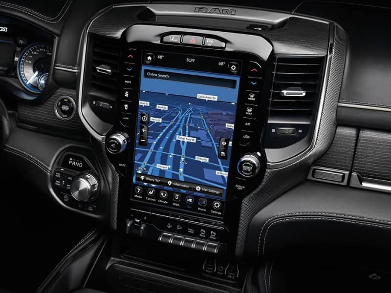 Touchscreen display inside the 2020 RAM 1500