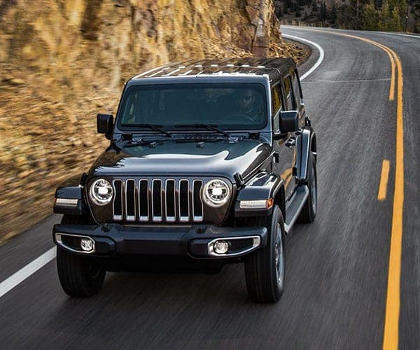 2018 Jeep Wrangler Driving on Highway