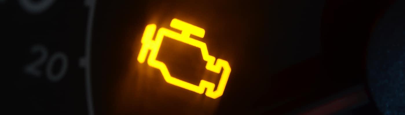 Check engine light illuminated on dashboard