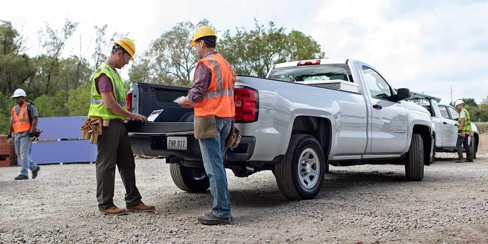 2018 Chevy Silverado 1500 on the worksite