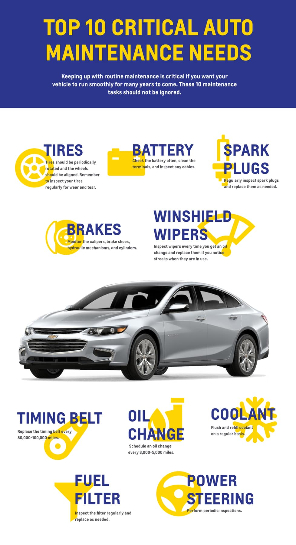 Vehicle Maintenance Menu Car Tips Libertyville Chevy 2014 Altima Fuel Filter Dealership Info
